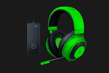 Razer Kraken Tournament Edition - Wired Gaming Headset with USB Audio Controller - Green - FRML Packaging
