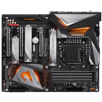 GIGA AORUS Z390, 4 DIMM DDR4, 1 x HDMI, 4 x USB2.0, 3 x USB3.1, 6 x AJ, ATX