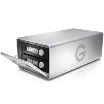 G-RAID Thunderbolt 3 24TB Hardware RAID 2-Bay Storage Solution, Removable Enterprise Class 7200RPM Hard Drives, 2x Thunderbolt 3/1x USB-C/HDMI, Silver