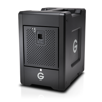 G-SPEED Shuttle Thunderbolt 3 20TB, Transportable, Hardware RAID 4-Bay Storage Solution with 2 ev Series Bay Adapters, Evolution Series Compatible, Bl