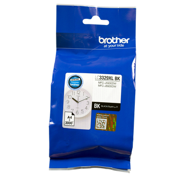 Brother LC3329XL Blk Ink Cartridge Up to 3000 Pages