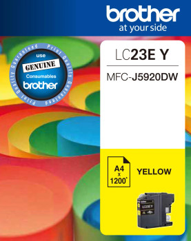 Brother LC23E Yellow Ink Cart