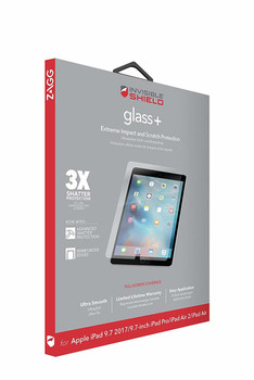 """Mophie InvisibleShield GLASS+ APPLE IPAD AIR/AIR2/9.7"""" PRO/9.7"""" 2017 Screen"""