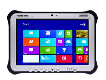 """Panasonic Toughpad FZ-G1 (10.1"""") Mk4 with 4G & 72 Point Dedicated Satellite GPS, Coner Guard Handstrap & Large Battery."""