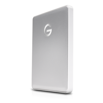 G-DRIVE mobile 1TB USB C, Portable, USB powered, Stylish aluminum finish, Silver