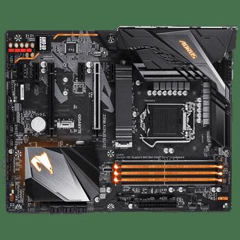 GIGA AORUS Z390, 4 DIMM DDR4, 1 x HDMI, 4 x USB2.0, 4 x USB3.0, 2 x USB3.1, 6 x AJ, ATX