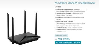 AC1300 MU-MIMO Wi-Fi Gigabit Router