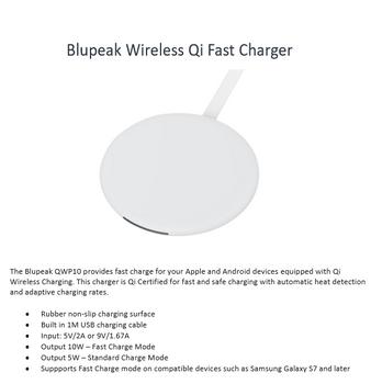 Blupeak Qi Certified Wireless Charging Pad 10W