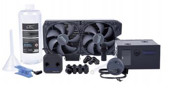 KOI Alphacool Eissturm Blizzard Copper 45 2x140mm - complete kit