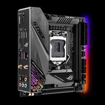 Intel Z390 LGA 1151 mini-ITX gaming motherboard with integrated I/O shield & VRM heatsink, Intel Wi-Fi, DDR4 4600+ , M.2, SATA 6Gbps, HDMI 2.0, and US