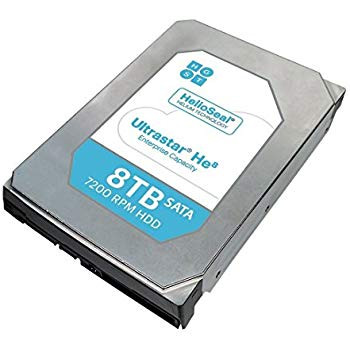 WD ULTRASTAR 0F27612, 3.5in 26.1MM 8000GB 256MB 7200RPM SATA ULTRA 512E SE HE10