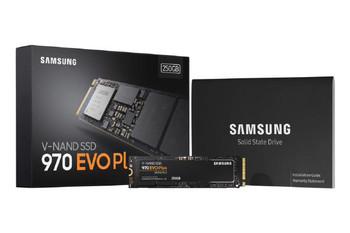 Samsung 970 Evo Plus 250GB, 64L 3-bit MLC V-NAND, M.2 (2280), NVMe, R/W(Max) 3,500MB/s/2,300MB/s, 250K/550K IOPS, 150TBW, 5 Years Warranty