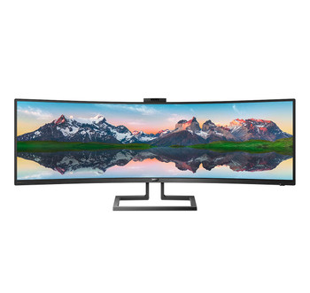 """Philips 499P9H1 49"""" Dual QHD SuperWide LED 32:9 Monitor"""