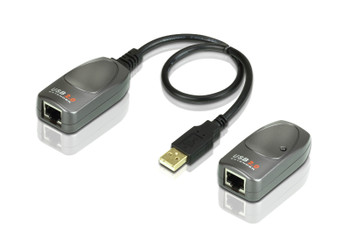 USB 2.0 Cat 5 Extender with AC Adapter, up to 60m, support 480Mbps (USB 2.0), 12Mbps/1.5 Mbps (USB 1.1) - [ OLD SKU: UCE-260 ]