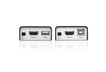 HDMI/USB Cat 5 Extender (1080p@40m), supports all USB 2.0 full speed device (up to 12 Mbps). Supports USB touch panel. - [ OLD SKU: VE-803 ]