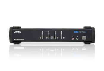 4 PORT USB DVI DUAL LINK KVMP SWITCH. Support HDCP, Video DynaSync, Dual Link, 2.1 Audio, Mouse/Keyboard emulation - [ OLD SKU: CS-1784A ]