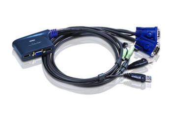 2 PORT USB VGA KVM SWITCH. Support Audio, 1.8M Cable - [ OLD SKU: CS-62U ]