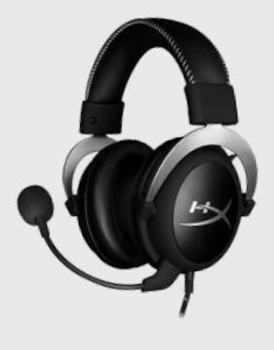 HyperX Cloud Silver Gaming Headset with In-Line Audio Control for PC & PS4 & Xbox One, Removable Microphone HX-HSCL-SR/NA