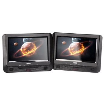 """DVD Player Dual 9"""" in car with Bonus Pack (headrest mounts and earphones)"""