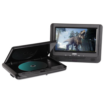 "DVD Player Dual 9"" in car with Bonus Pack (headrest mounts and earphones)"