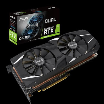 ASUS Dual GeForce RTX 2080 Ti OC edition 11GB GDDR6 with high-performance cooling for 4K and VR gaming