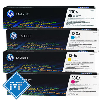HP 130A toner bundle (includes: CF350A, CF351A, CF352A, CF353A)