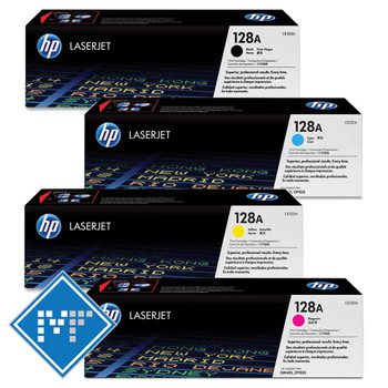 HP 128A toner bundle ( includes: CE320A, CE321A, CE322A, CE323A)