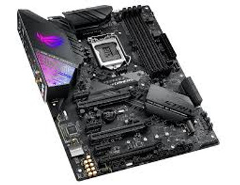 Intel Z390 LGA 1151 ATX gaming motherboard with Aura Sync RGB, 802.11ac Wi-Fi, DDR4 4266z+, dual M.2 with heatsinks, SATA 6Gbps, HDMI, and USB 3.1 Gen