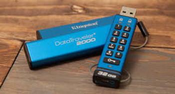 Kingston 64GB Keypad USB 3.0 DT2000, 256bit AES Hardware Encrypted