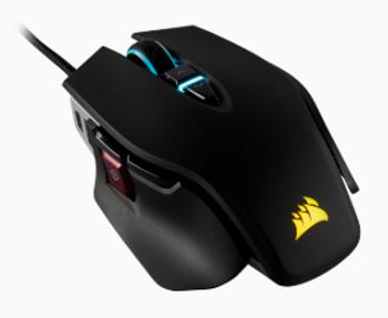 CORSAIR M65 RGB ELITE Tunable FPS Gaming Mouse, Black, Backlit RGB LED, 18000 DPI, Optical