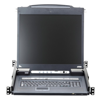 "19"" 1 Local/Remote Share Access 16-Port Single Rail LCD KVM over IP Switch - [ OLD SKU: CL-5716NA ]"
