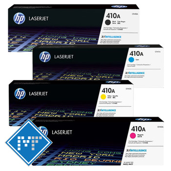 HP 410A toner bundle (includes CF410A, CF411A, CF412A, CF413A)