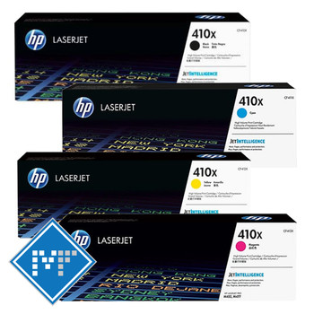 HP 410X toner bundle (includes CF410X, CF411X, CF412X, CF413X)