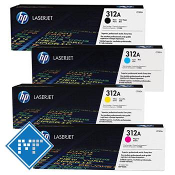HP 312A toner bundle (includes: CF380A, CF381A, CF382A, CF383A)