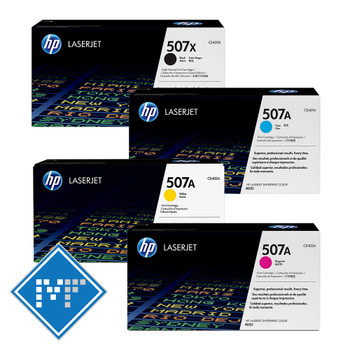 HP 507X toner bundle (includes: CE400X, CE401A, CE402A, CE403A)