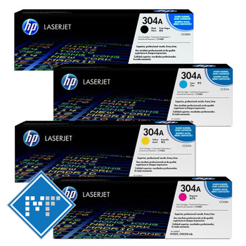HP 304A toner bundle (includes CC530A, CC531A, CC532A, CC533A)
