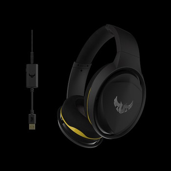 Gaming headset with onboard 7.1 surround sound for immersive gaming audio