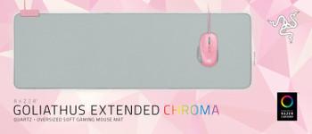 Razer Goliathus Extended Chroma - Soft Gaming Mouse Mat with Chroma - Quartz - FMRL Packaging