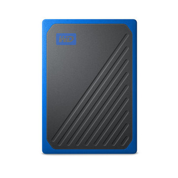 WD My Passport GO Portable SSD, 500GB, USB 3.0, speeds up to 400 MB/s, built-in cable, Cobalt colored, 3Y