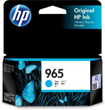 HP 965 Cyan Ink Cartridge for OfficeJet Pro 9010, 9012, 9016, 9018, 9019, 9020, 9026, 9028