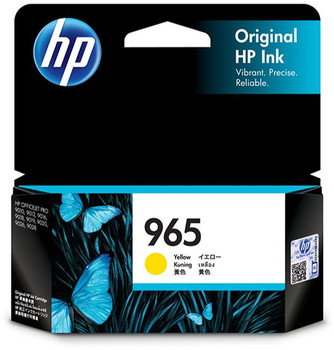 HP 965 Yellow Ink Cartridge for OfficeJet Pro 9010, 9012, 9016, 9018, 9019, 9020, 9026, 9028