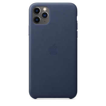 Apple iPhone 11 Pro Max Leather Case - Midnght Blue
