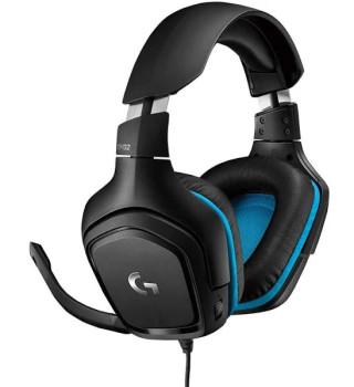 Logitech G432 7.1 Surround Sound Wired Gaming Headset, Black, 2yr Wty