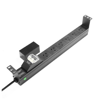 Powershield RPR-6HMCB Power Distribution Unit Unmanaged 6 Way PDU with Australian Sockets - horizontal