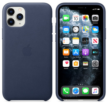 Apple iPhone 11 Pro Leather Case - Midnight Blue - DEMO