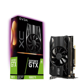 EVGA Geforce GTX1660Ti XC Gaming Graphics Card, 6GB GDDR6, PCIE, Full Height, HDB Fan, DP, HDMI, DVI-D, Max 3 Outputs