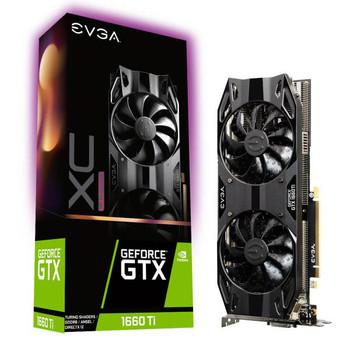 EVGA GeForce GTX 1660 Ti XC ULTRA GAMING, 06G-P4-1267-KR, 6GB GDDR6, Dual HDB Fans