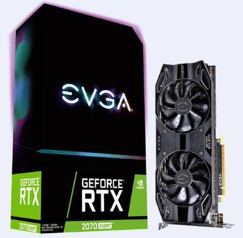 EVGA GeForce RTX 2070 SUPER BLACK GAMING, 08G-P4-3071-KR, 8GB GDDR6, PCIE, DisplayPort 1.4, HDMI 2.0b, HDCP 2.2