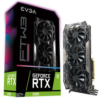 EVGA GeForce RTX 2080 FTW3 ULTRA GAMING, 08G-P4-2287-KR, 8GB GDDR6, iCX2 & RGB LED