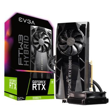 EVGA GeForce RTX 2080 TI FTW3 ULTRA HYBRID GAMING, 11G-P4-2484-KR, 11GB GDDR6, RGB LED Logo, iCX2 Technology, Metal Backplate
